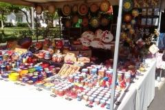 Spanische Keramik Marktstand Freitag in Mogan