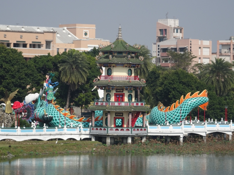 Dragon Tiger Tower Lotuspond Kaohsiung Taiwan